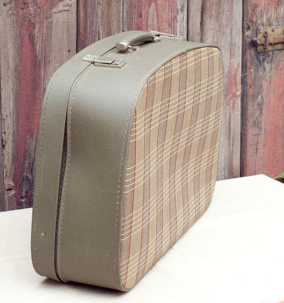Vintage Koffer - Großer Koffer halbrund No 12 - ein Designerstück von Handdruckerin bei DaWanda
