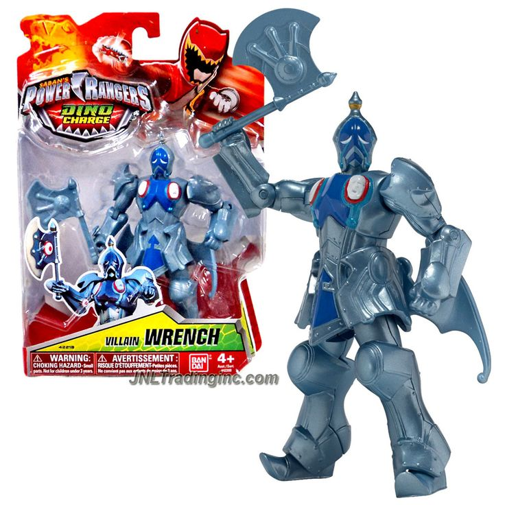 Bandai Year 2015 Saban's Power Rangers Dino Charge Series 5-1/2 Inch Tall Action Figure - Villain WRENCH with Battle Axe