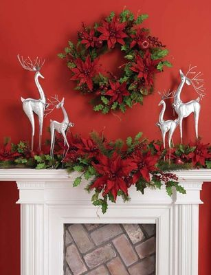 Merry Merry...use white and silver against an all red wall.