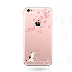 Cherry Blossoms kat patroon transparante TPU zachte hoes voor de iPhone 6s 6 plus – EUR € 2.93