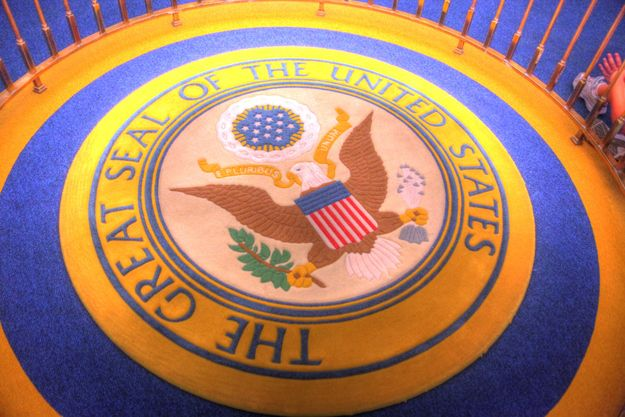 """Things You Probably Didn't Know About Disney Parks 18. It took an act of Congress to install the Presidential Seal in the """"Hall of Presidents"""" attraction. There are only three seals: one in the Oval Office, one in the hall containing the Liberty Bell, and one in the """"Hall of Presidents."""""""