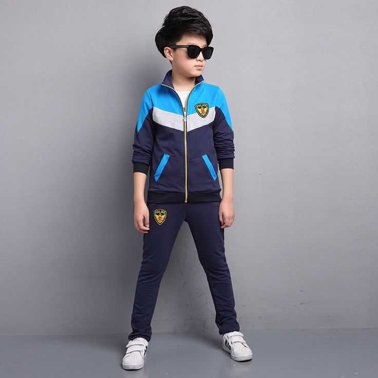 26.68$  Watch now  - Spring Costume For Kids 5 6 7 8 9 10 11 12 13y Sport Suit For Boy Teenagers Toddler Boys Clothing Set Long Sleeve Outwear + Pant
