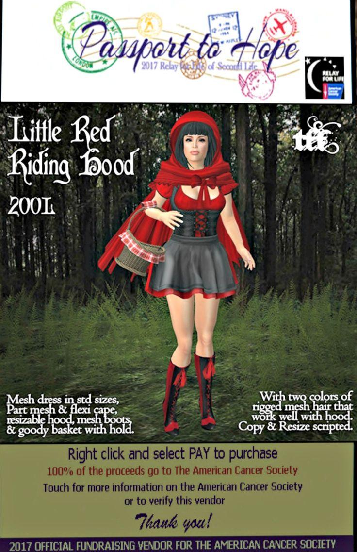 Tayren's Fantasy Fashions - Little Red Riding Hood  - Egregore sim - http://maps.secondlife.com/secondlife/Egregore/57/135/44