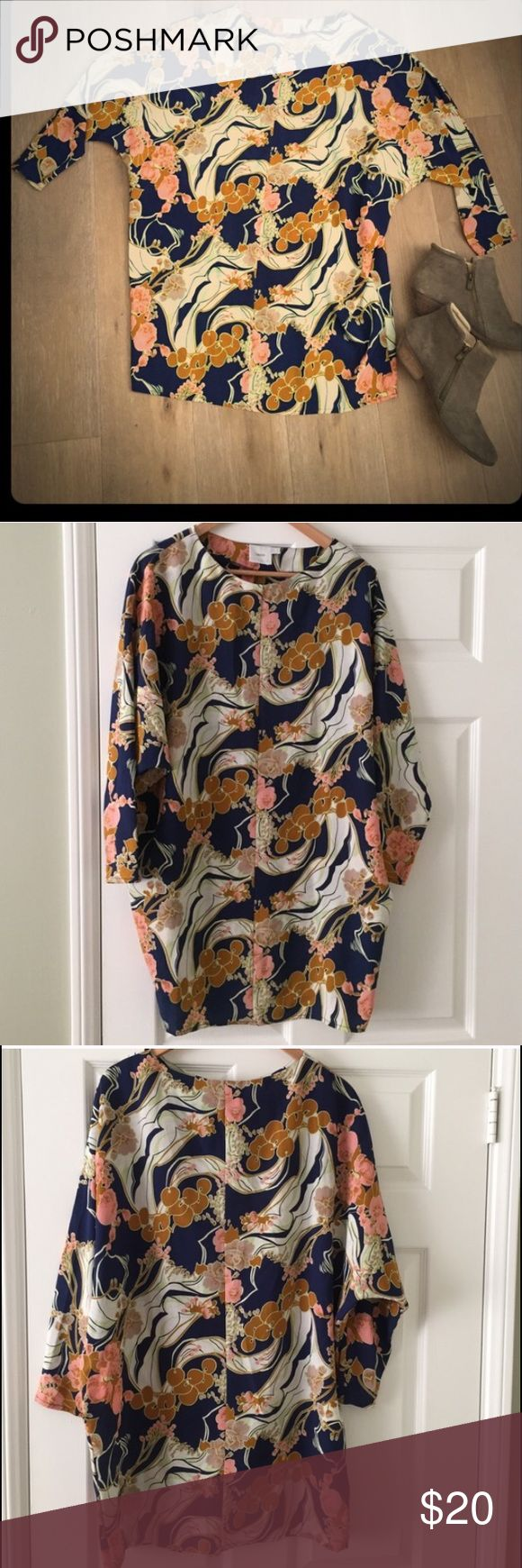 Asos Maternity Floral Mini Dress size 4 This is the perfect fall maternity dress! The colors are amazing. Brand new, tags removed. 100% Polyester ASOS Maternity Dresses Mini
