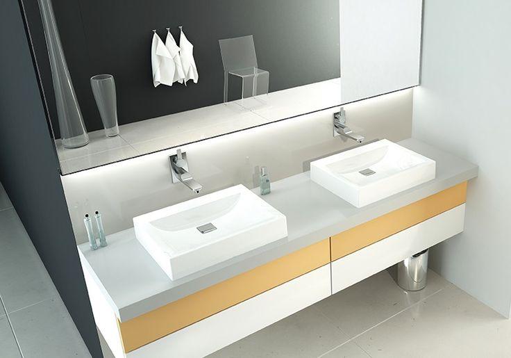 Znalezione obrazy dla zapytania umywalka nablatowa wymiary
