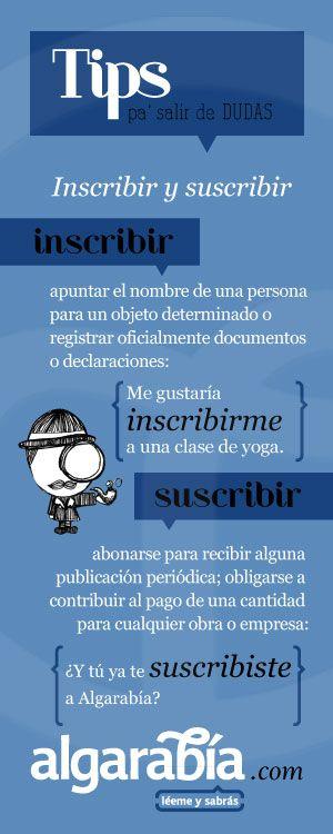 Inscribir y suscribir #tip #lengua #español