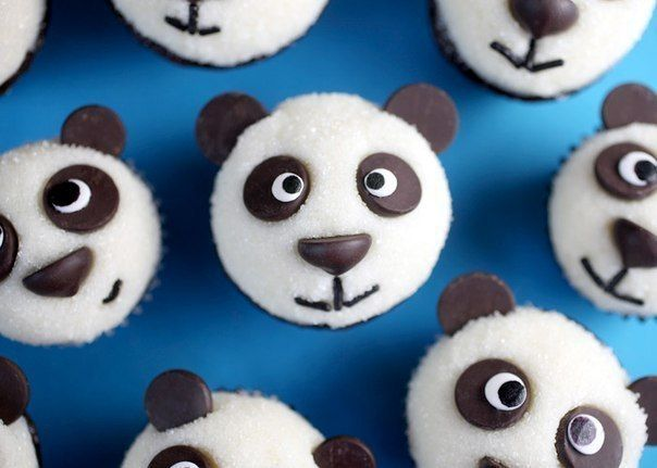 Шоколадные кексы-панды / Удивительная еда!