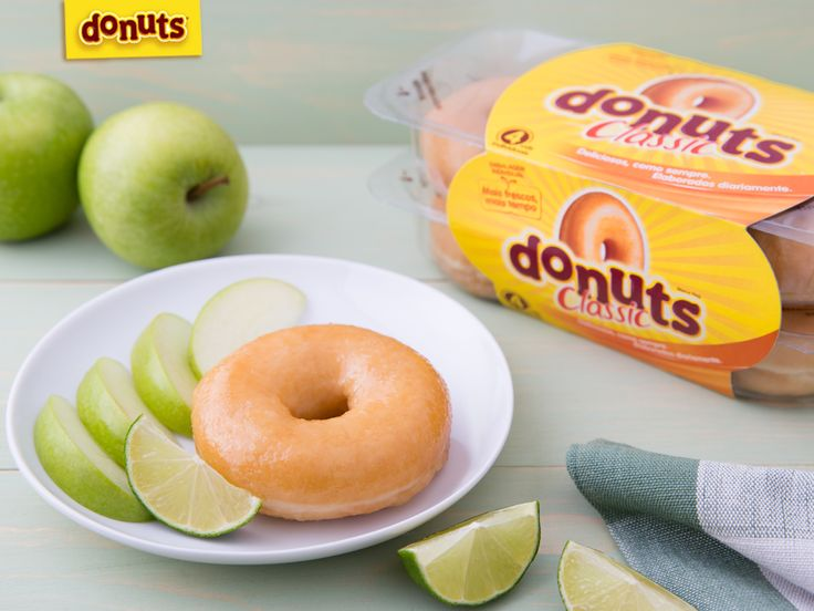 Delicia-te com o sabor agridoce de Donuts com Maçã verde e Lima