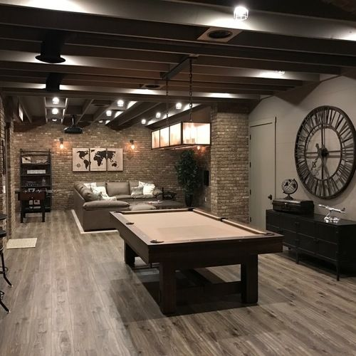 Best Basement Subfloor Materials For Your Man Cave: 71 Best Before & After: Finished Basement Projects Images On Pinterest
