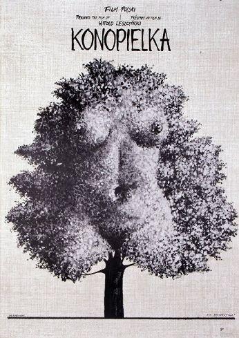 Konopielka Original Polish movie poster film, Poland director: Witold Leszczynski actors: Anna Seniuk designer: Andrzej Pagowski year: 1982 size: B1