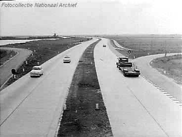 A4 Leiderdorp - richting Den Haag jaren 50