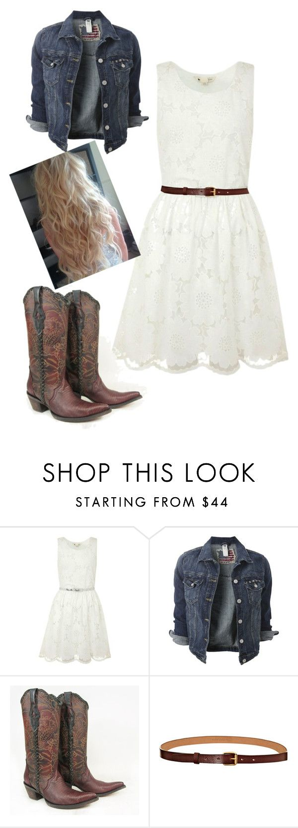 """White Dress - For Contest (65)"" by hannah-liebrecht ❤ liked on Polyvore featuring Yumi, Marc Jacobs, women's clothing, women, female, woman, misses and juniors"