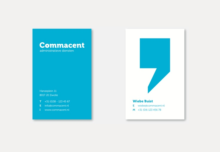 businesscard, corporate id, Commacent