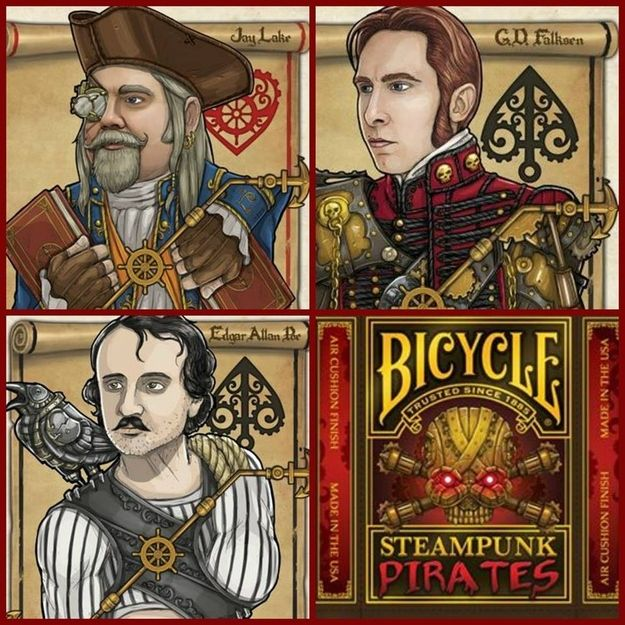 Yup Steampunk Playing Cards.   Steampunk Playing Cards