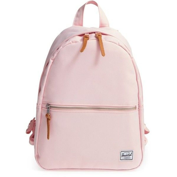 Women's Herschel Supply Co. 'Town' Backpack (800.400 IDR) ❤ liked on Polyvore featuring bags, backpacks, cloud pink, herschel supply co backpack, rucksack bags, backpack bags, pink bag and herschel supply co bag