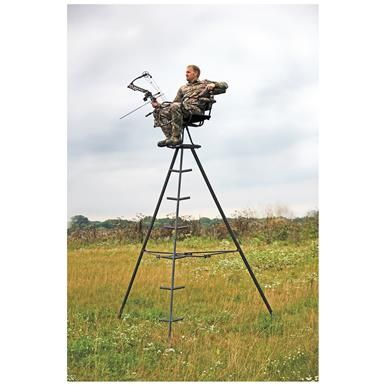 X-Stand Express 13' Portable Tripod Deer Stand - 663964, Tower & Tripod Stands at Sportsman's Guide