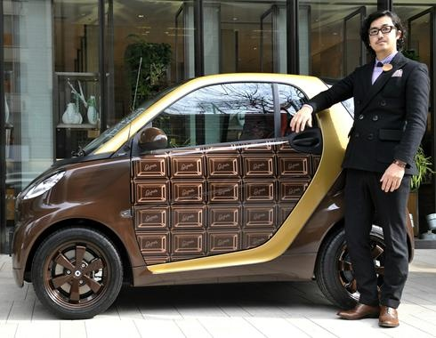 A limited edition of a Mercedes smart car unveiled in tokyo  18,000 pounds