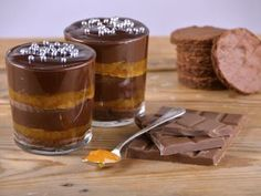 Torta Sacher en vasitos