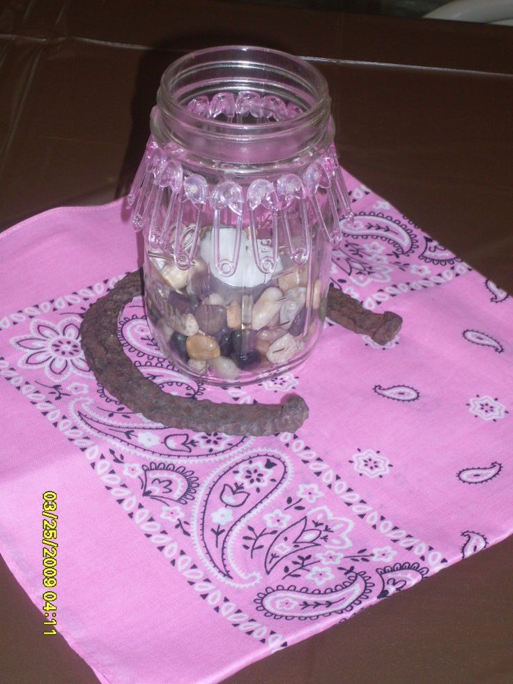Cowgirl Baby Shower Centerpieces