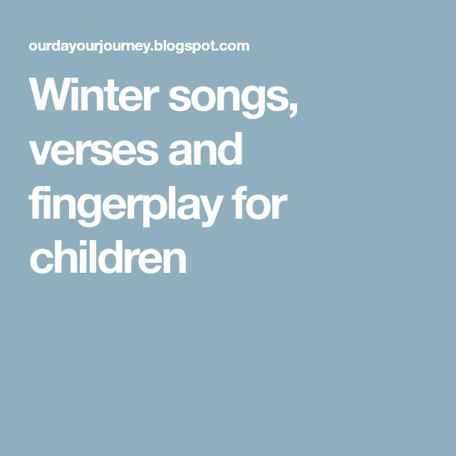 Winter songs, verses and fingerplay for children