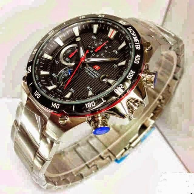 Jam Tangan Swiss Army 8692 Silver Black / RP 780,000 | BB : 21F3BA2F | SMS :083878312537