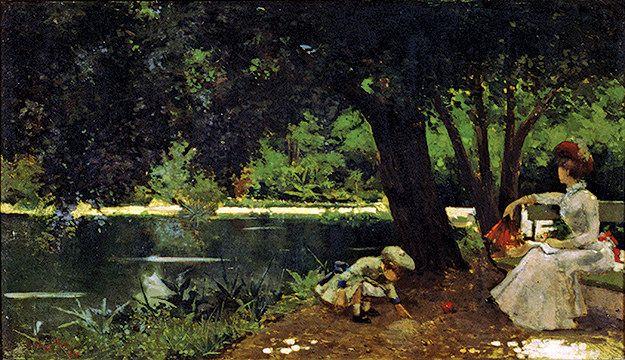 https://flic.kr/p/E9Rk8a | Laguna del Parque Cousiño. Alberto Orrego Luco, 1887. © Colección Museo Nacional de Bellas Artes de Chile.