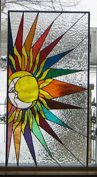 Stained Glass Heirlooms: Sun Moon Face/ Some1 says Iowa is a fan. Personally