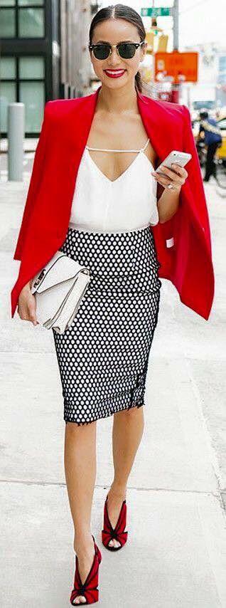 Falda de tubo blanco y negro