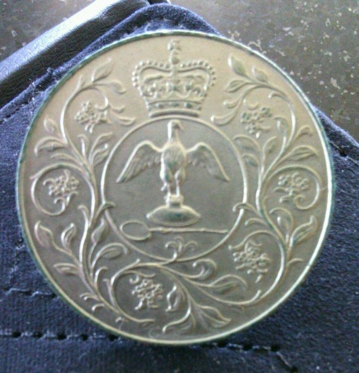 Queen Elizabeth II Silver Jubilee Crown 1952 - 1977 Commemorative Coin Royal HRM   eBay