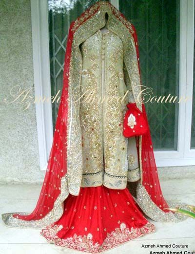 Latest Pakistani Bridal Wear Collection 2013 By Azmeh Ahmed Couture