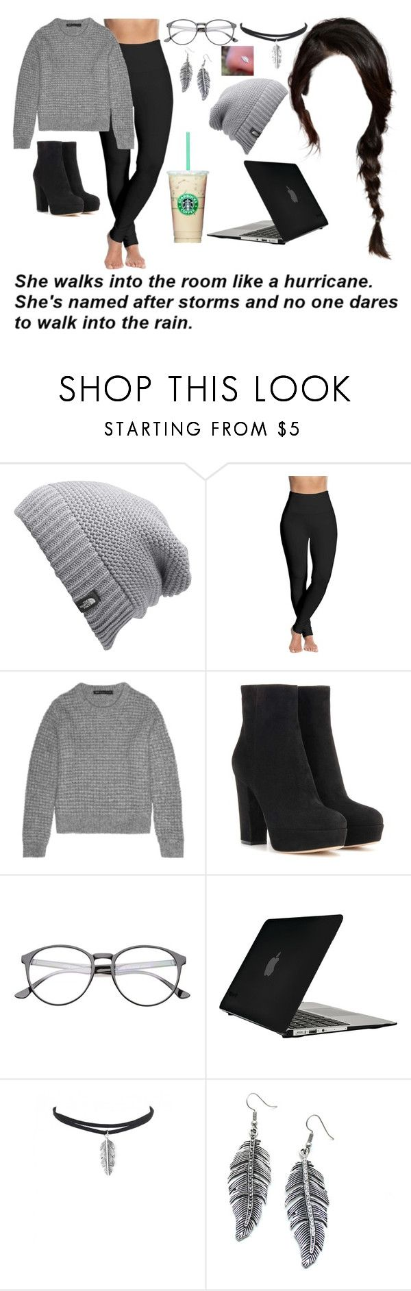 """Like a hurricane"" by ms-prettymama ❤ liked on Polyvore featuring The North Face, Lyssé Leggings, Marc by Marc Jacobs, Gianvito Rossi, Speck and Child Of Wild"