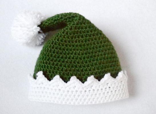 Little Helper Crochet Elf Hat     Baby   Pinterest   Croché, Gorras ...