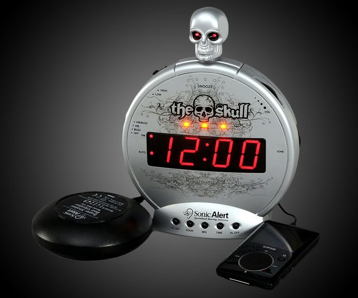 The Skull Ultra Loud Alarm Clock with Bed Shaker