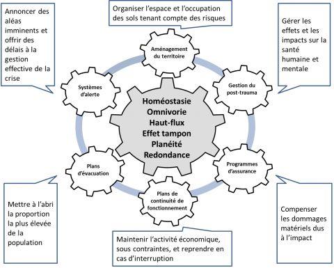 Figure 1. Application des principes systémiques de la résilience à la gestion des risques d'inondation