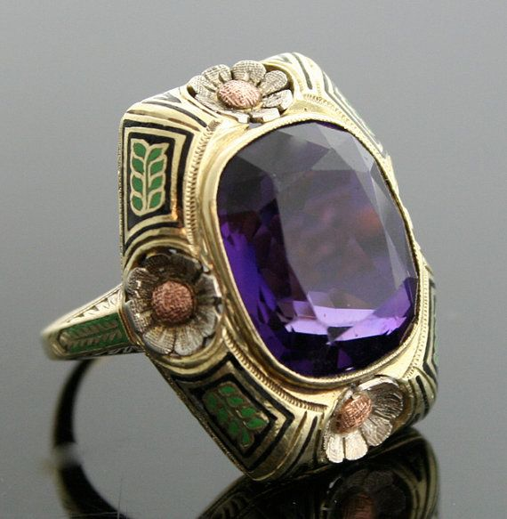 xx..tracy porter..poetic wanderlust...- Antique Amethyst Ring