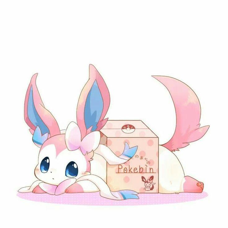 Sylveon in a box.   Pokemon   Pokémon, Pokemon eevee ...  Sylveon in a bo...