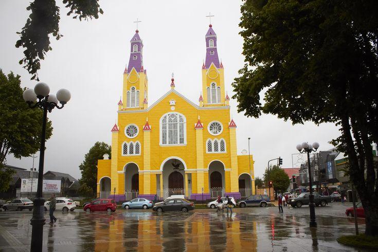 San Francisco de Castro Church located in Castro city in the southern island of Chiloé. All churches on Chiloé island are Heritage of Humanity.