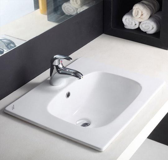 Buy Hindware Optra Counter Top Self Rimming Basins-91008 in Washbasins through online at NirmanKart.com