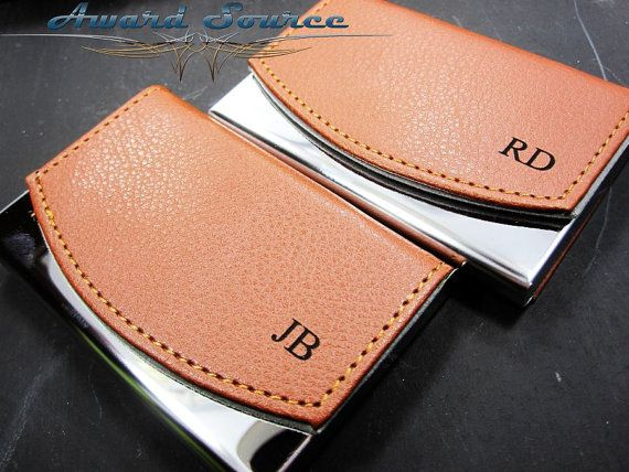 Personalized Business Card Holder Leather by weddingpartygifts
