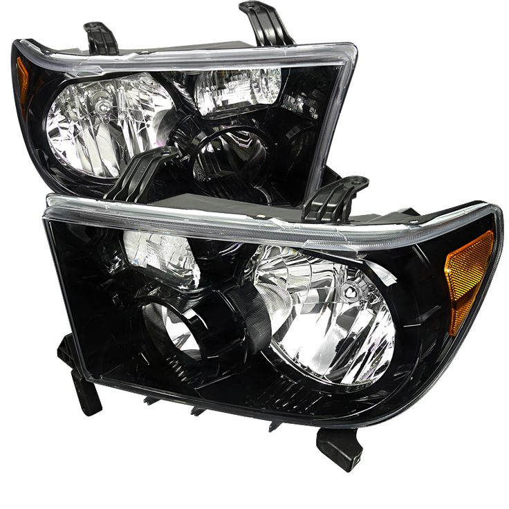 toyota tundra 2007 2011 black euro headlights toyota tundra accessories pinterest toyota. Black Bedroom Furniture Sets. Home Design Ideas