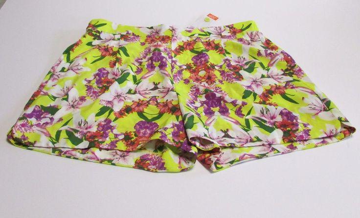 NWT Joe Fresh Women's Floral Shorts Size 8 Dressy Hawaiian #JoeFresh #DressShorts