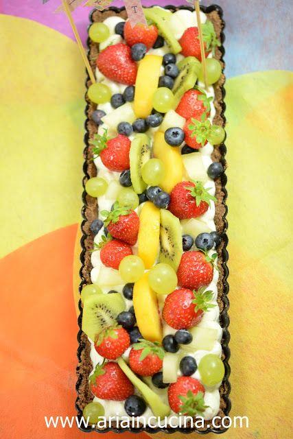 Blog di cucina di Aria: Crostata di frutta con crema al mascarpone senza cottura