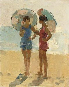 Isaac Israëls - LADIES ON THE BEACH, VIAREGGIO,...