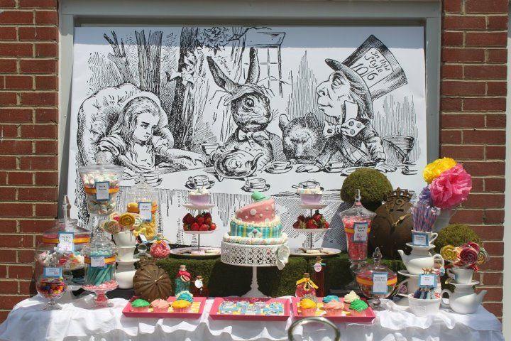 Alice in Wonderland Bridal Shower - Amazing!