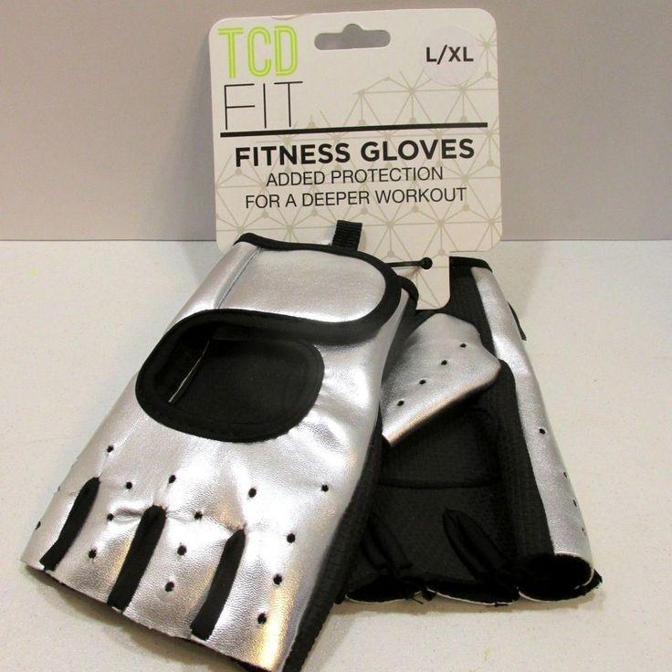 Vegan Fitness Gloves: Womens Fitness Gloves Half Finger Exercise Sports Sz L XL