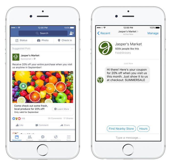 Herzlich Willkommen Unternehmen  Sharing individuelle Startseiten & Anzeigen für Messenger Bots