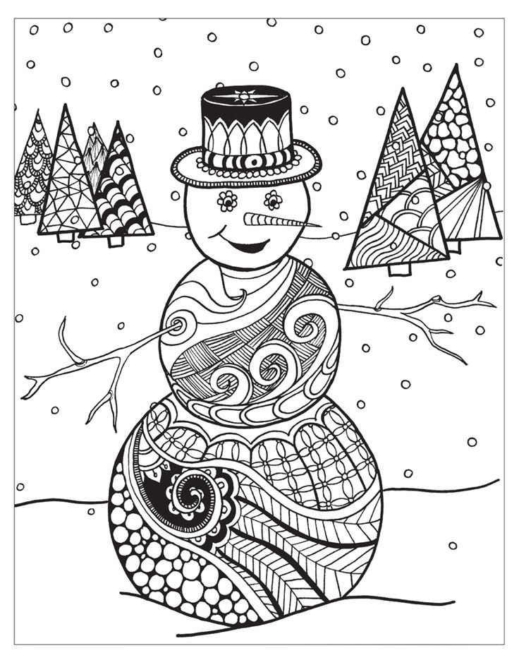 A Beautiful Wintertime Coloring Book For Adults