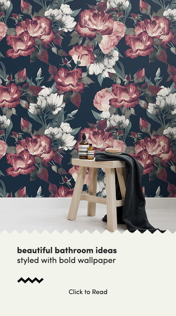 6 Dark Wallpapers To Create A Statement Bathroom Hovia Uk Large Floral Wallpaper Dark Wallpaper Floral Wallpaper Black floral wallpaper uk