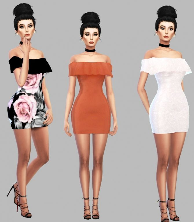 Sims 4 Updates: Simply Simming - Clothing, Female : Ruffle Dress, Custom Content Download!