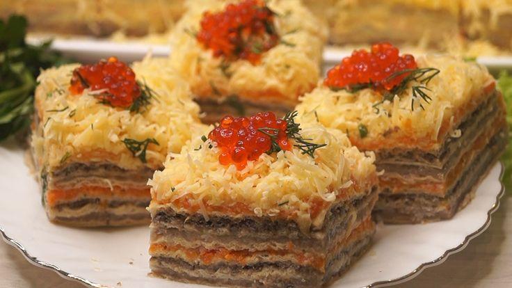 Закусочный торт рецепт с фотографиями